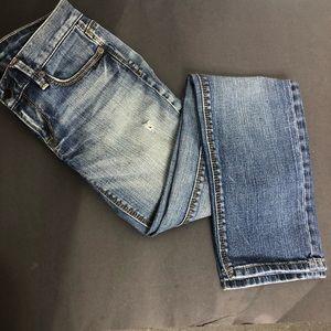 Loft modern slim distressed jeans